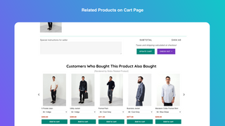 Related product on cart page
