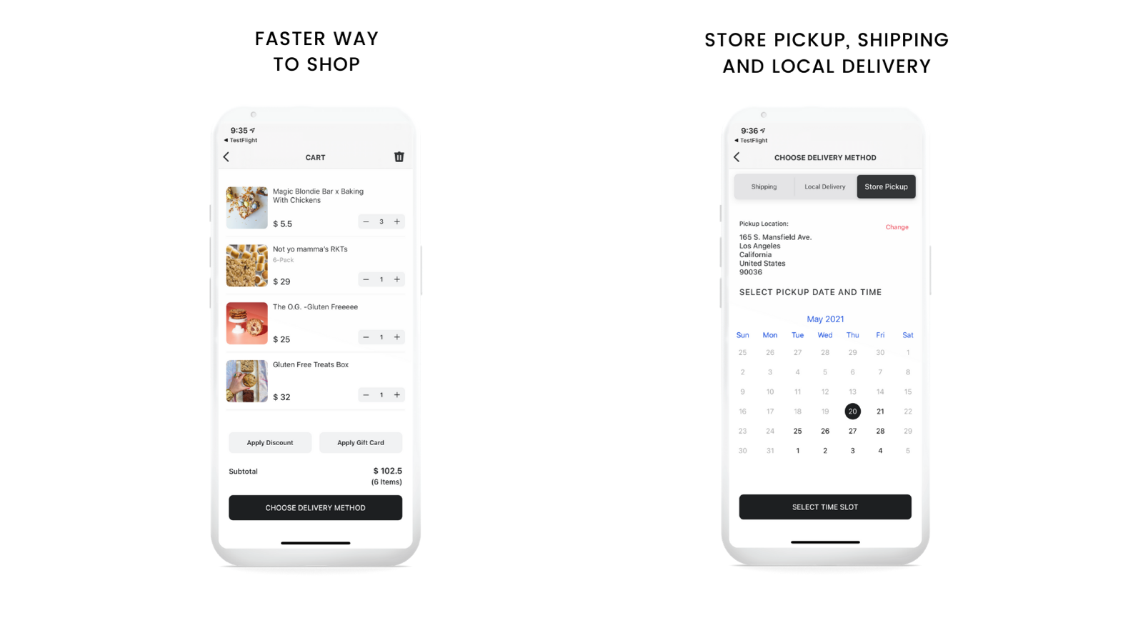 Shopify Mobile App with Store Pickup and Delivery