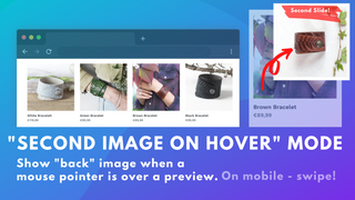 How to slide preview images, add hover effect