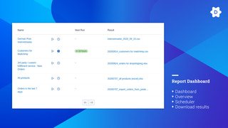 Manage all your Reports/Exports in the Dashboard