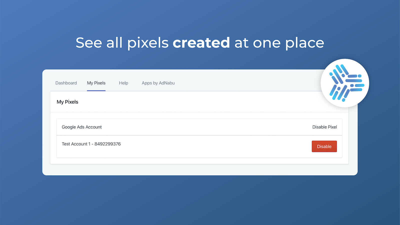 See all conversion pixels created across Google Ads accounts