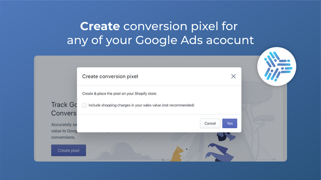 Create conversion tracking pixel in any of Google Ads accounts