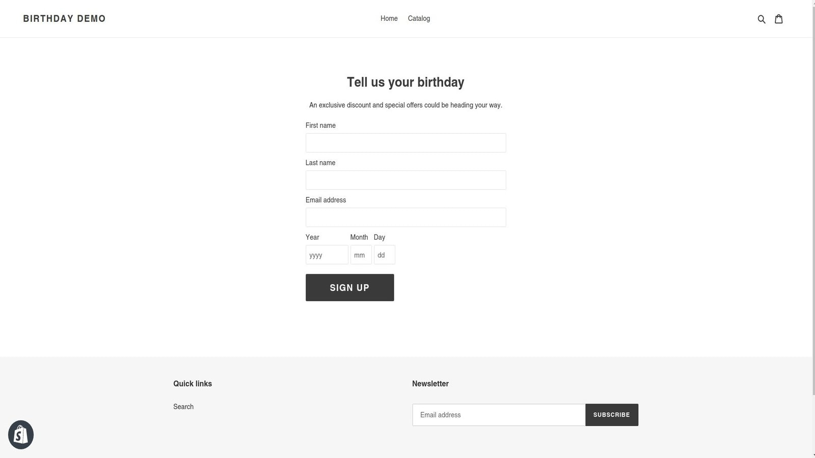 #4 Signup Page