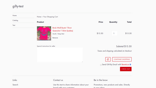 Storefront view showing gift check box