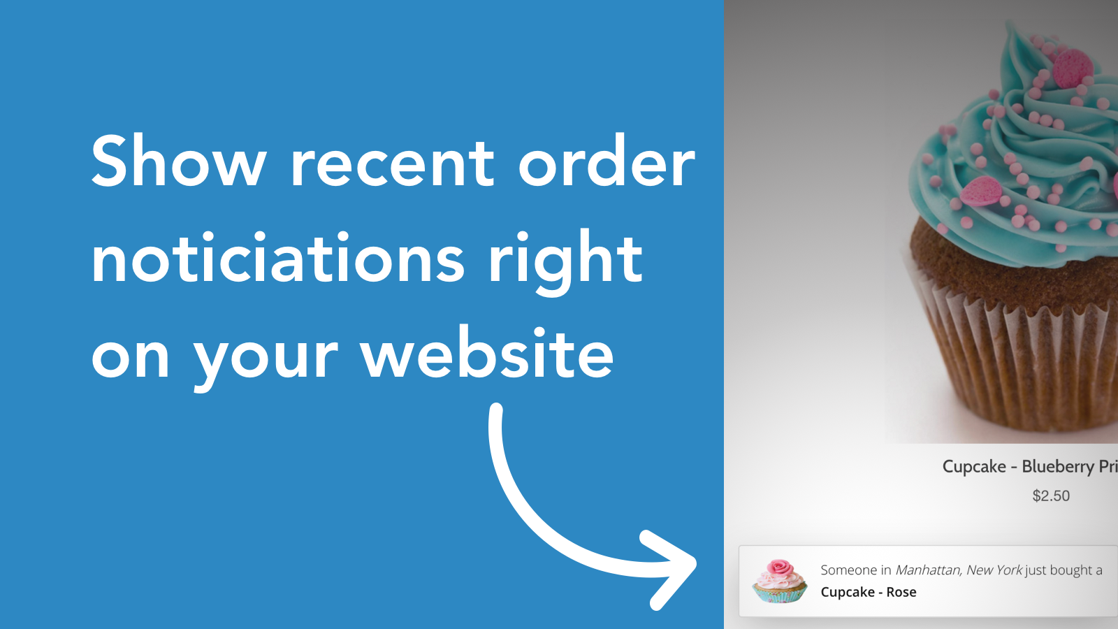 Show recent sales notification on your Shopify store website