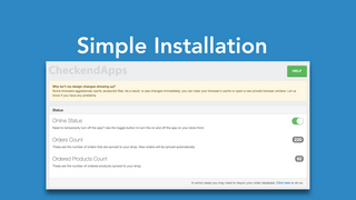 Easy installation of recent sales notification app by Checkend