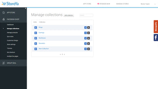 Back-office: manage collections