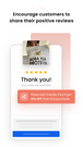 Encourage customers to share their positive reviews