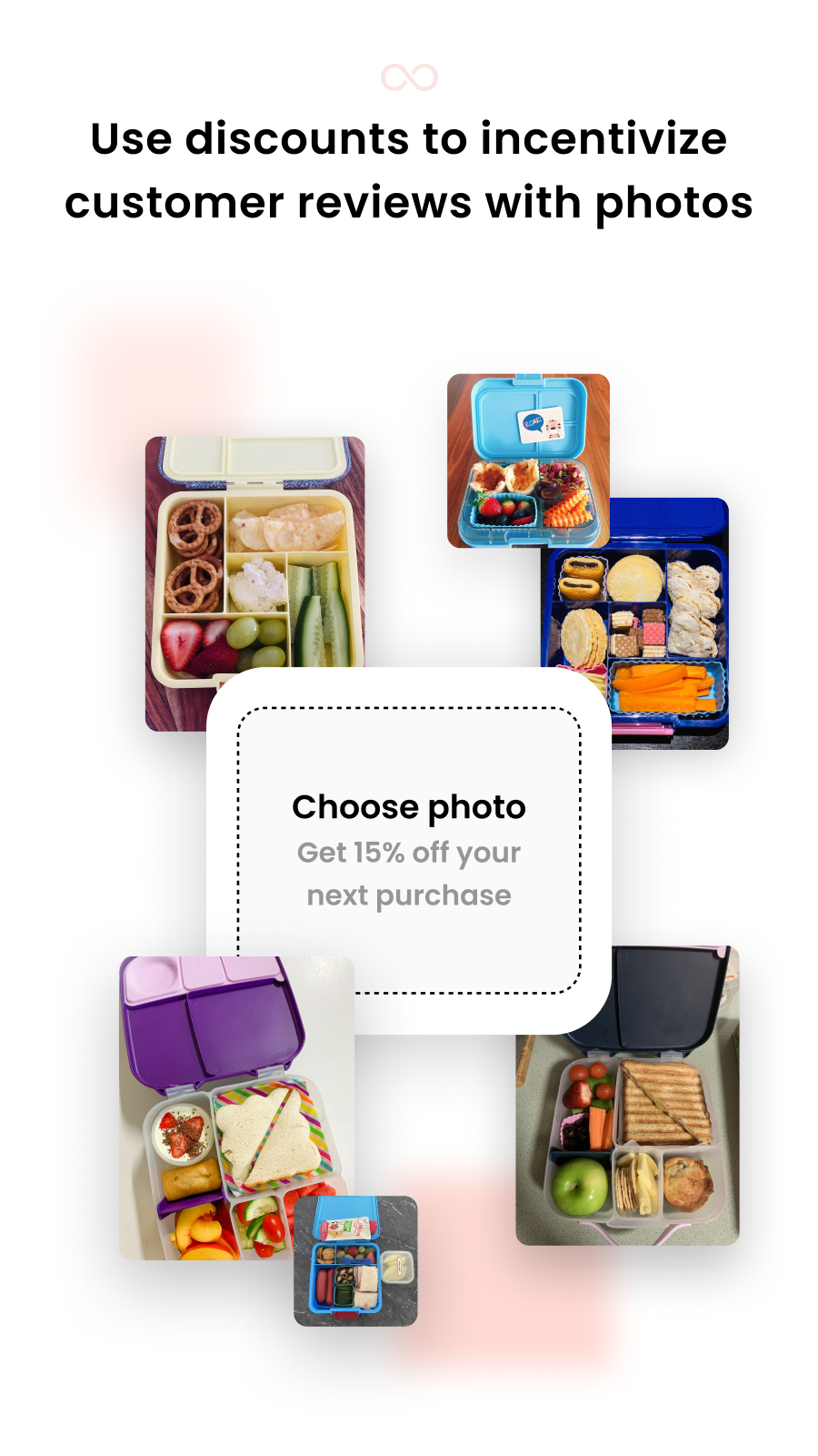 Use discounts to incentivize customers to add photos to reviews