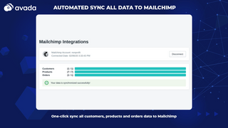 Automated sync all data to Mailchimp