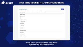 Order sync rules