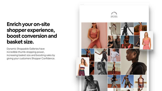 Let customers Shop Social with Shoppable Galleries