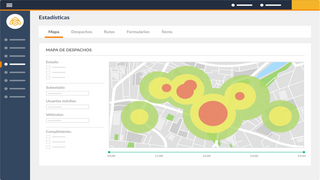 Analyze the volume of your deliveries in the city.