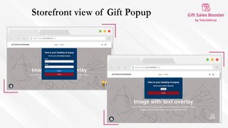 Storefront view of Gift Sales Booster