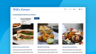 Recipe with Shopify blog filter