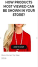 How products most viewed can be shown in your store Mobile
