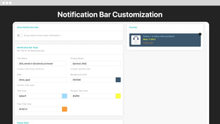 Design your own sales notifications