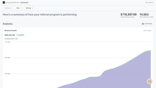 Admin-facing referral program dashboard