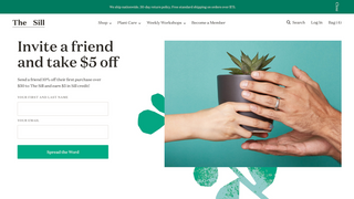 Customer-facing refer-a-friend signup screen