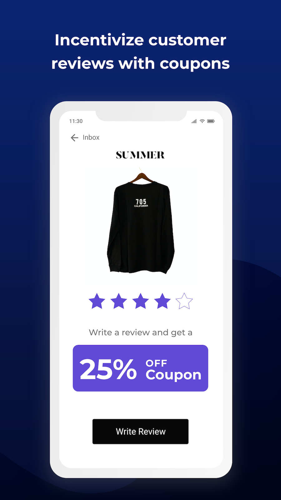 coupons and discounts review requests via email and SMS