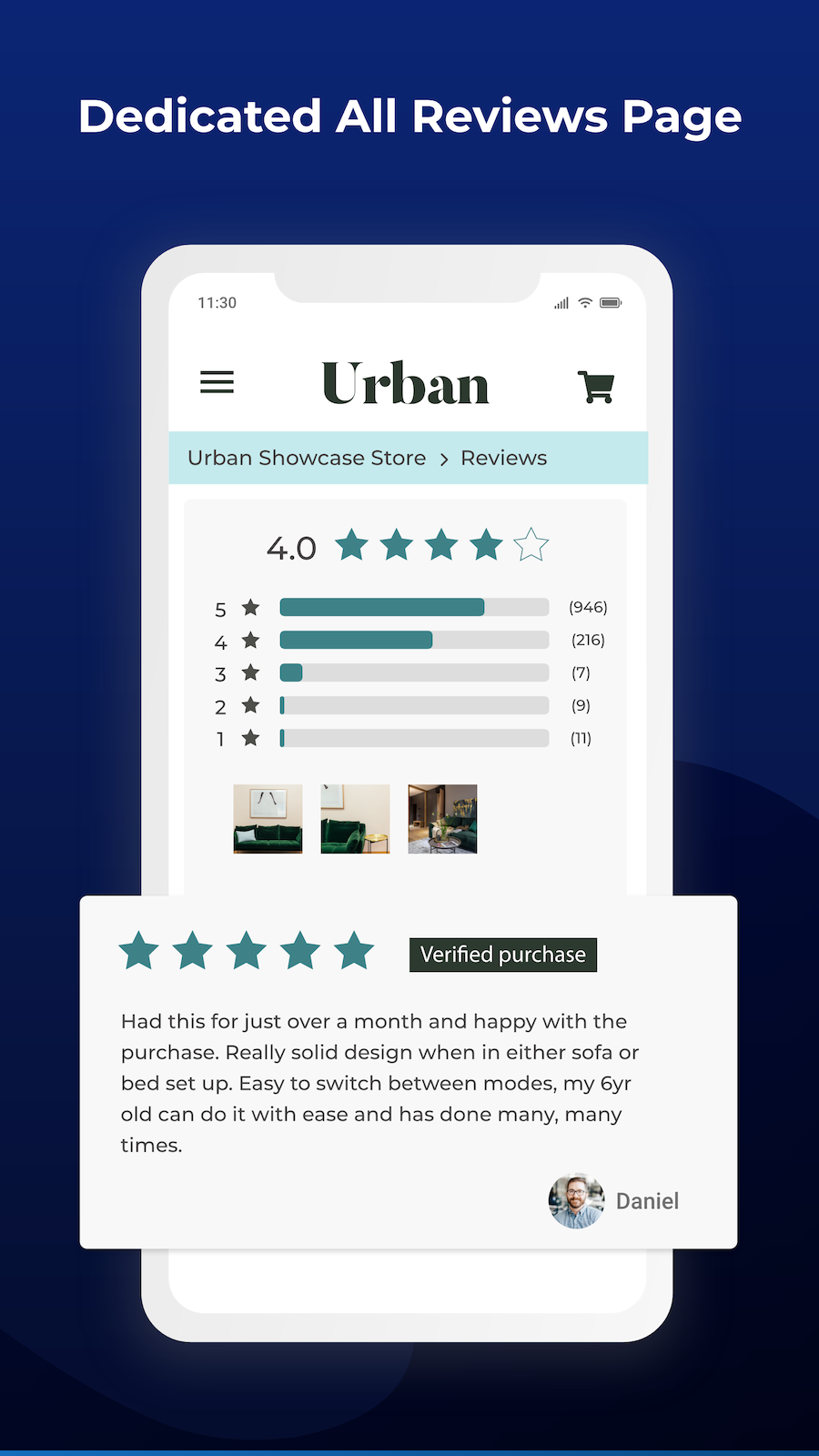 product review importer, all reviews page, increase conversions