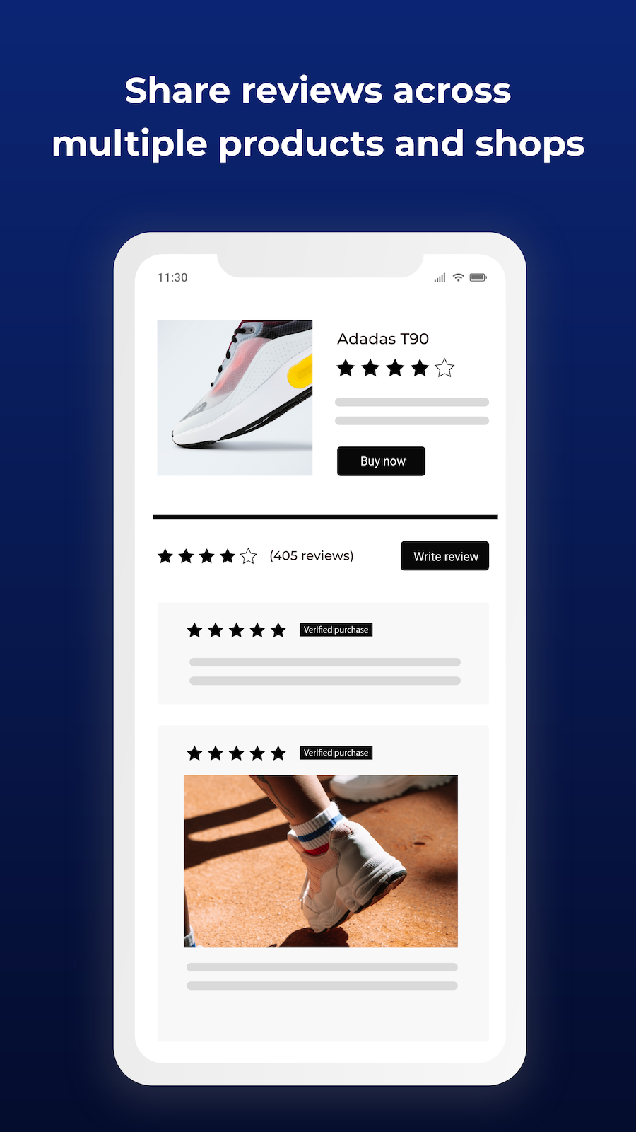 share reviews across multiple products, shops. Review imports