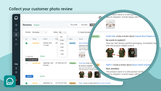 Photo Reviews through Whatsapp Reviews page