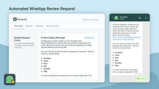 Photo Reviews through Whatsapp Analyics page