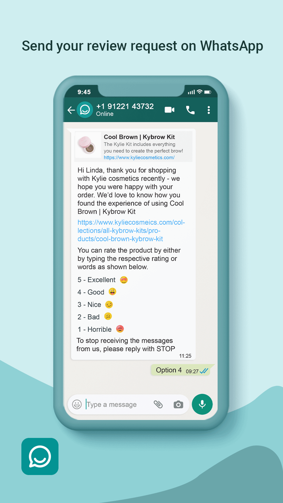 Whatsapp Review Request