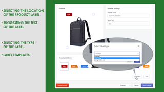Shopify Product Label Frontend Appearance