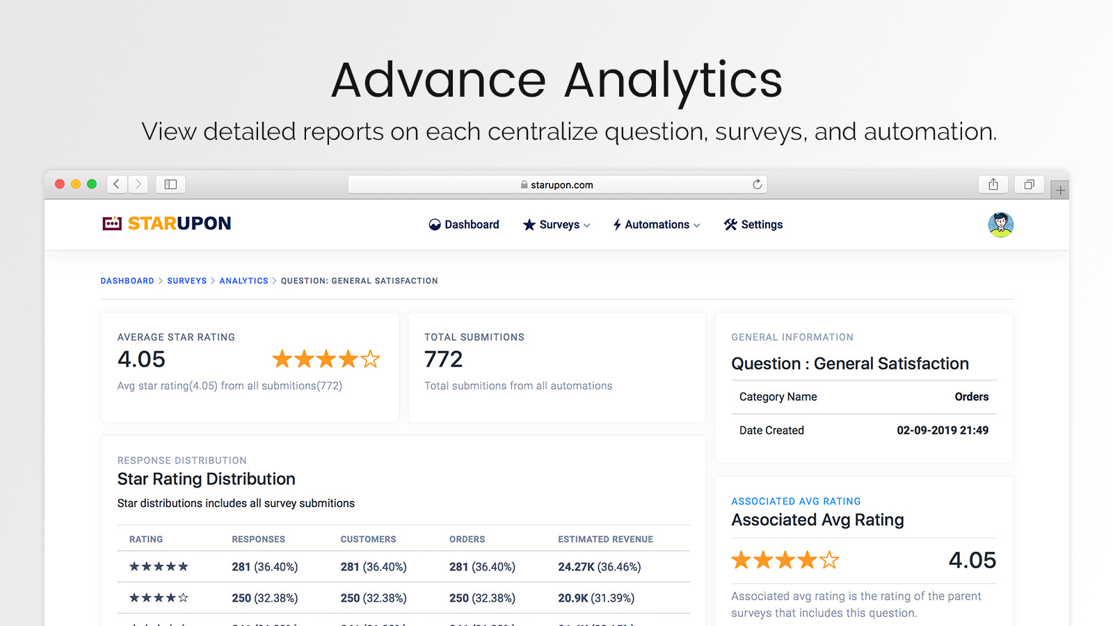 Advanced Analytics on Your Collected Data