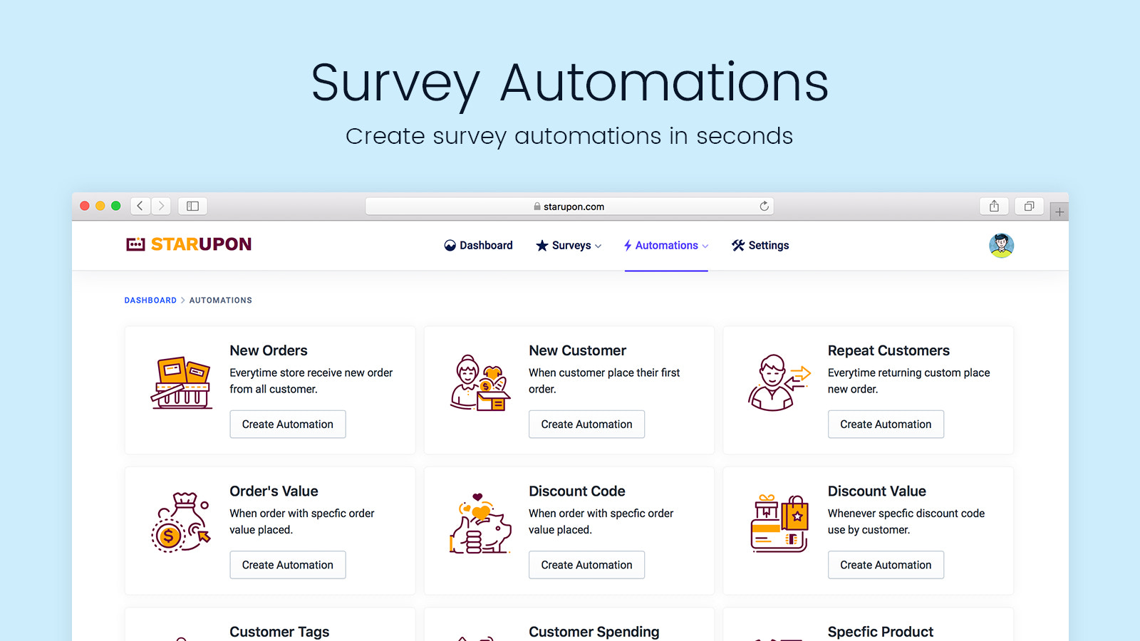 Create Survey Automations in Seconds