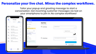 Personalize your live chat. Minus the complex workflows.