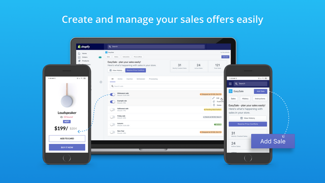 Create and manage and schedule sale prices easily