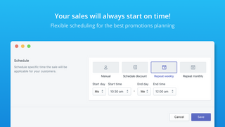 Flexible tool to schedule sales easily