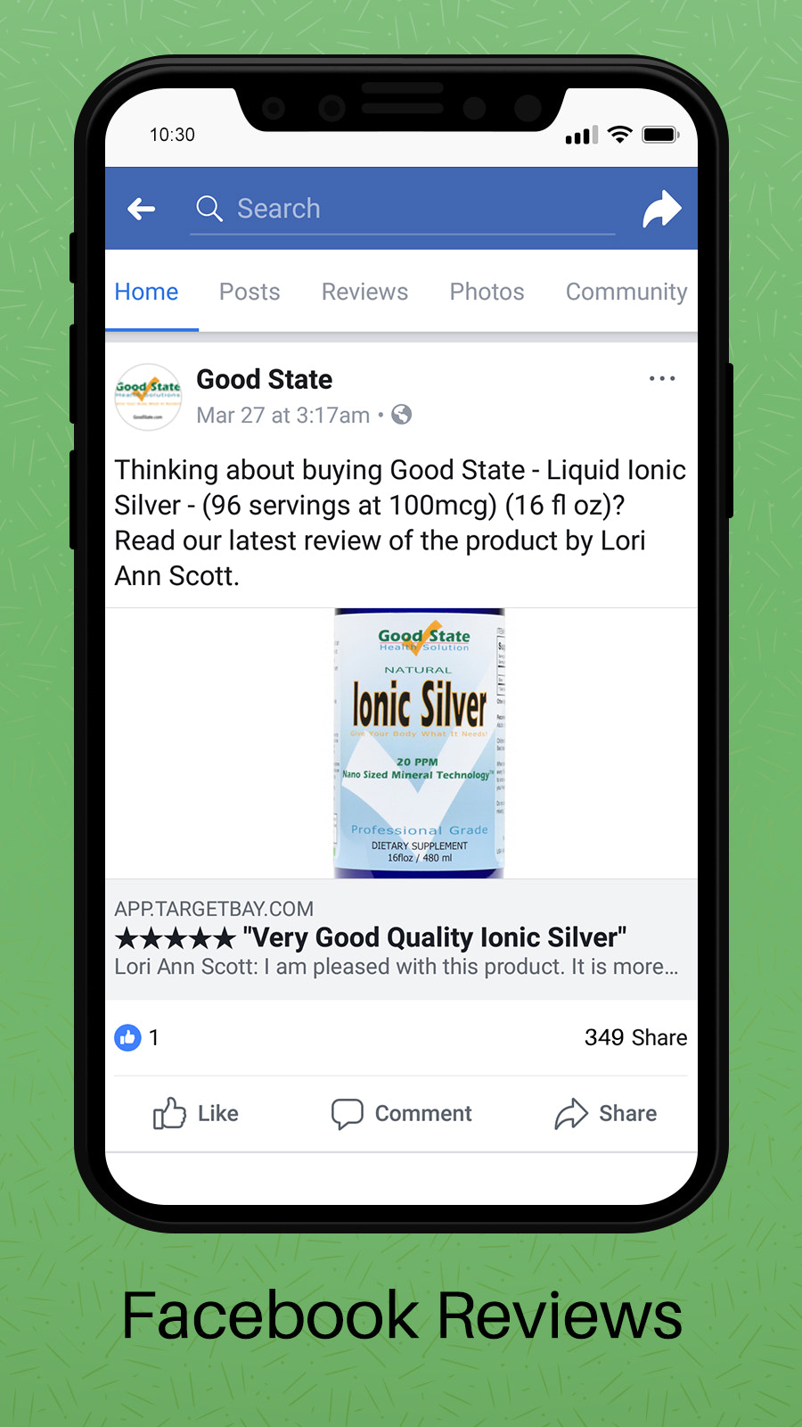 Share your Reviews on Facebook