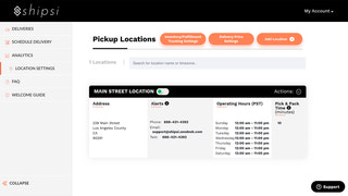 Customize your Pickup Locations and Settings