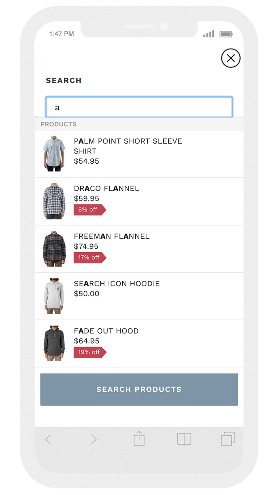Smart Search  and product filter