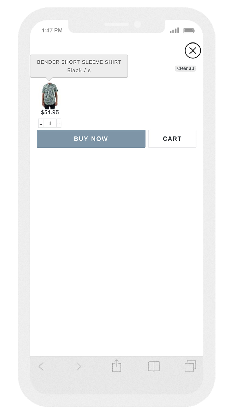 Sticky Cart - extra feature of our filter , search app