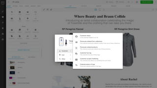 Personalize content based on previous shopping behavior and more