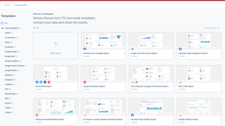 Marketing and social analytics template gallery