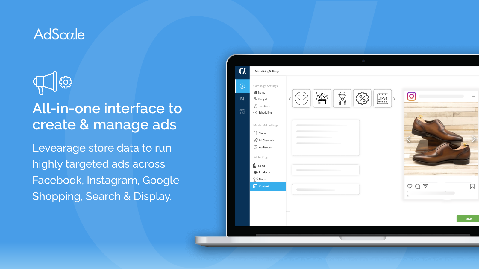 All in one platform to create & manage ads on Google & Facebook