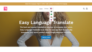 language widget layout 3