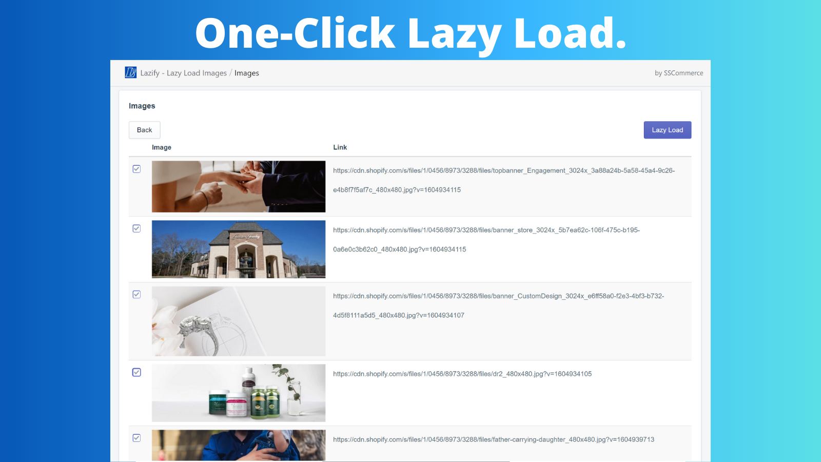 One-Click Lazy Load.