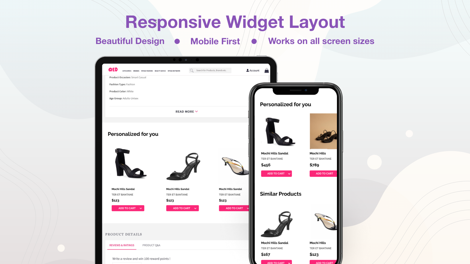 Responsive Layout for Personalized Recommendations Widget