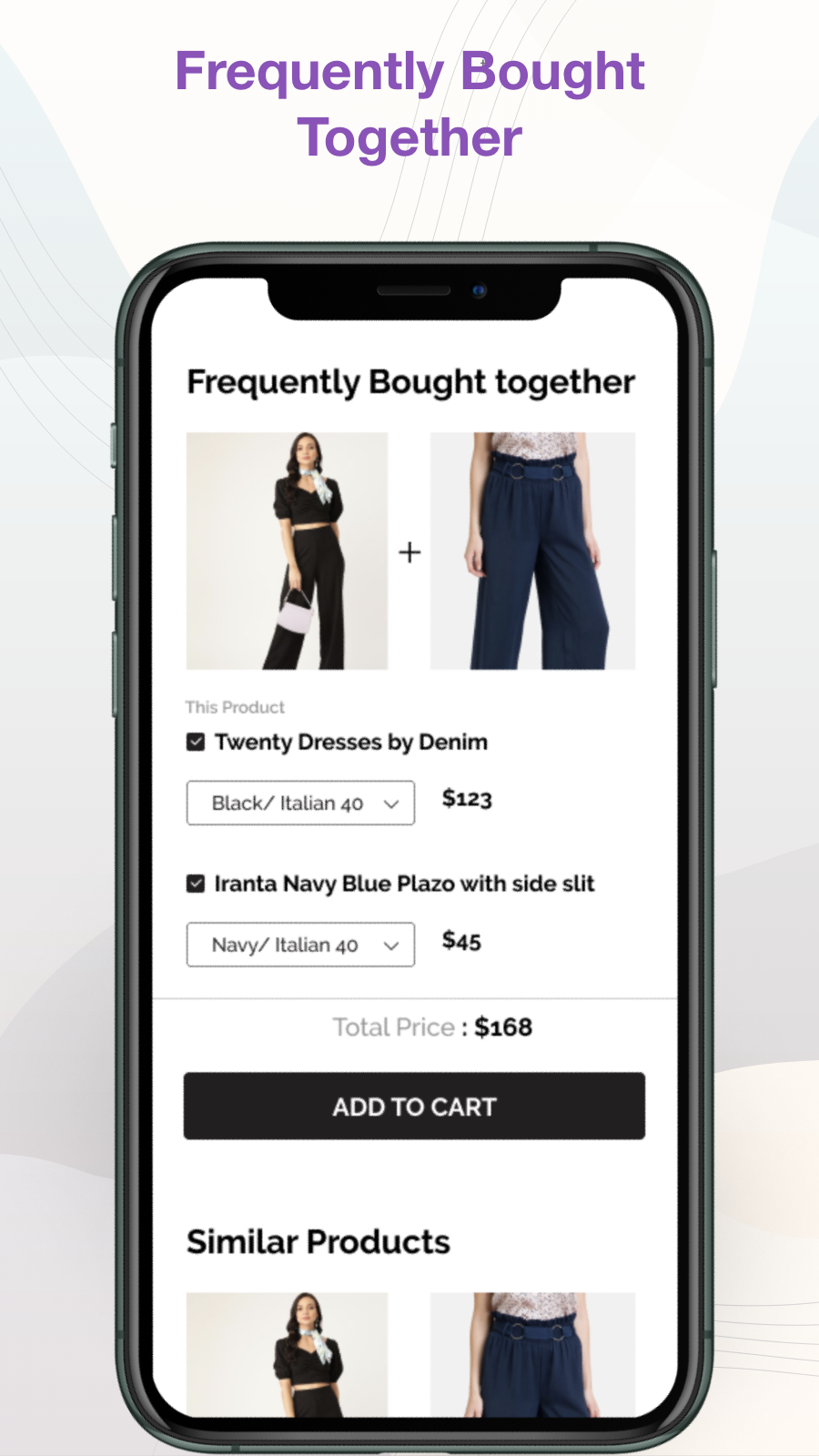 Trending, Personalized Recommendations Similar Products Carousel