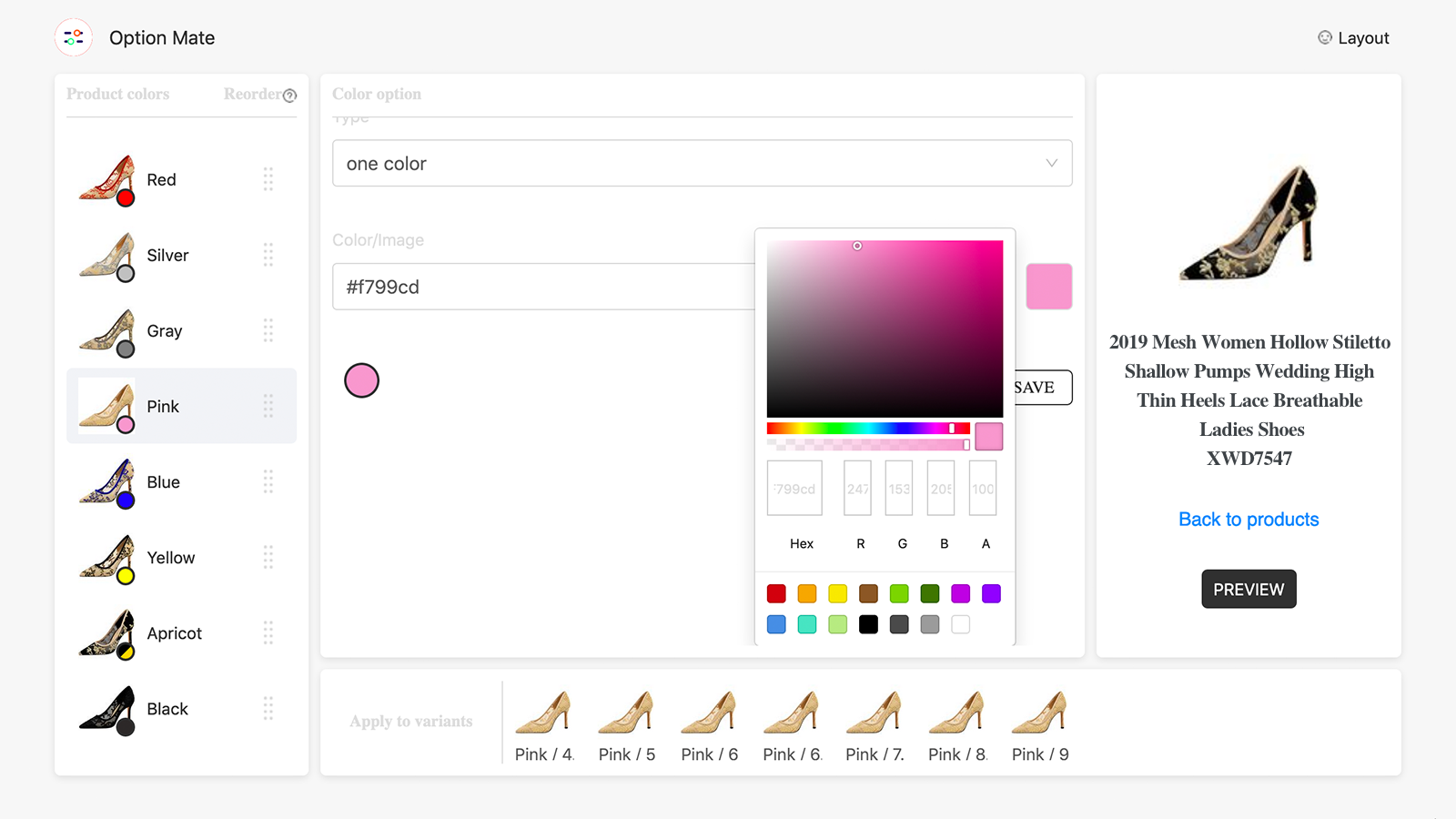 Powerful color-picker tool can select any color