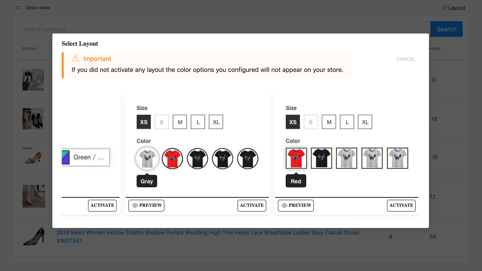 You can preview & activate the appropriate layout for shop theme