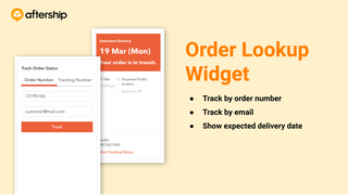 Order Lookup widget (Track button)