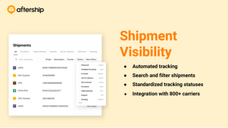 Track all shipments in one place